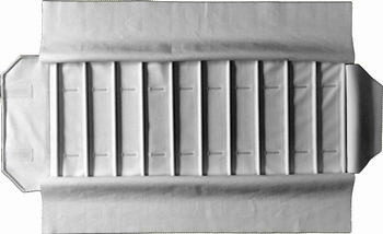 Roll for watches, 10 slots (280x54 mm) + elastic bands