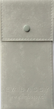 Flocked PVC pouch (75x150 mm), for watch