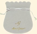 Flocked cotton pouch (100x110 mm), for jewelry