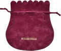 Flocked cotton pouch (140x150 mm), for jewelry
